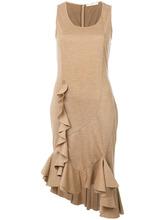 GIVENCHY   платье миди с оборкой  Givenchy   Clouty