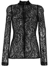 GIVENCHY | полупрозрачная кружевная блузка с цветочным узором  Givenchy | Clouty