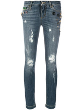 Dolce & Gabbana | декорированные джинсы с аппликацией и рваными деталями Dolce & Gabbana | Clouty
