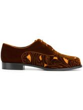 Emporio Armani | туфли на шнуровке с вырезными деталями | Clouty