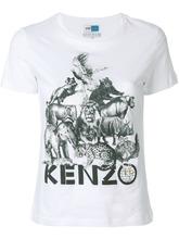 KENZO | футболка с принтом 'animal kingdom' Kenzo | Clouty