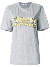 MSGM   декорированная футболка с цветочным логотипом MSGM   Clouty