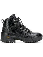 1017 Alyx 9Sm | ботинки на шнуровке с эффектом крокодиловой кожи | Clouty