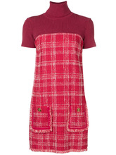 Elisabetta Franchi | платье с клетчатой отделкой | Clouty