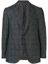 Caruso | plaid fitted blazer | Clouty