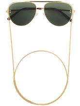 Stella McCartney | солнцезащитные очки-авиаторы с цепочкой | Clouty
