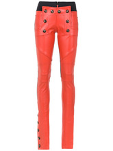 Andrea Bogosian   leather skinny trousers   Clouty