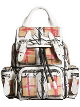 BURBERRY | The Small Crossbody Rucksack in Scribble Check | Clouty