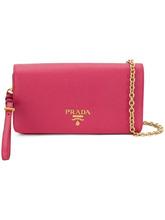 PRADA | saffiano chain wallet | Clouty