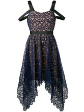 Self-Portrait   asymmetric circle floral lace dress   Clouty