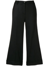 P.A.R.O.S.H. | cropped wide leg trousers | Clouty