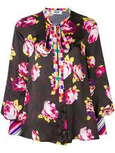 MSGM | блузка с контрастным цветочным принтом | Clouty