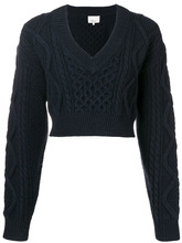 3.1 Phillip Lim | cropped knit sweater | Clouty