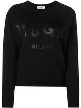 MSGM | logo printed crew neck sweatshirt | Clouty