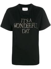 Alberta Ferretti | slogan embroidered T-shirt | Clouty