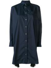 Sacai | платье-рубашка с плиссировкой сбоку | Clouty