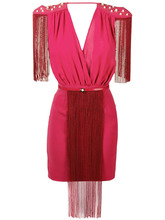 Elisabetta Franchi | chain fringe mini dress | Clouty