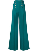 Elisabetta Franchi | nautical palazzo pants | Clouty