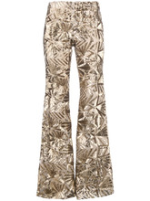 P.A.R.O.S.H.   sequin embellished flared trousers   Clouty