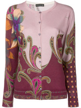 Etro | paisley print cardigan | Clouty