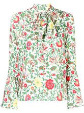 La Doublej   floral pussybow blouse   Clouty