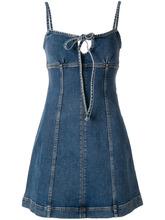 ALEXACHUNG | А-образное джинсовое платье | Clouty