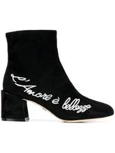 Dolce & Gabbana   ботильоны с вышивкой   Clouty