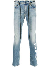 Off-White   logo slim-fit jeans   Clouty