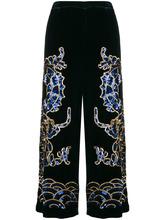 P.A.R.O.S.H.   прямые брюки с вышивкой пайетками   Clouty