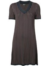 A.P.C. | платье шифт в полоску с V-образным вырезом | Clouty