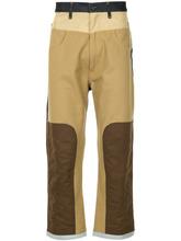 junya watanabe man   широкие джинсы дизайна колор-блок   Clouty
