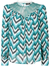 Elisabetta Franchi | свободная блузка с геометрическим узором | Clouty