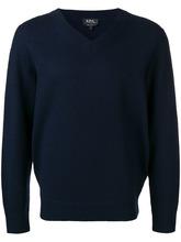 A.P.C. | свитер тонкой вязки с V-образной горловиной | Clouty