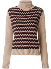 A.P.C. | вязаный свитер с зигзагообразным узором | Clouty
