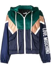 Love Moschino | куртка в стиле колор-блок с капюшоном | Clouty