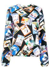 Love Moschino | свитер с принтом открыток | Clouty