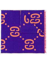 GUCCI | жаккардовый шарф с узором GG | Clouty