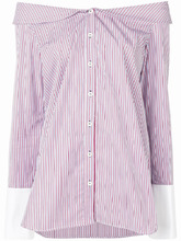 Monographie   striped off shoulder shirt   Clouty