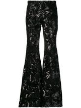 P.A.R.O.S.H.   расклешенные брюки с отделкой пайетками   Clouty