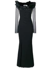 Le Petite Robe Di Chiara Boni | вечернее платье с воротником с оборками | Clouty