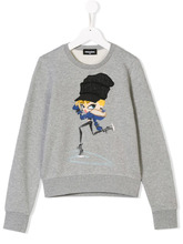 DSQUARED2 Kids   TEEN girl printed sweatshirt   Clouty