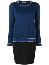 D.Exterior | colour block sweater dress | Clouty