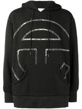 Telfar | embroidered hooded sweatshirt | Clouty