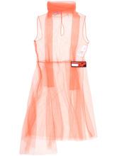 PRADA | платье из органзы с нашивкой логотипа | Clouty
