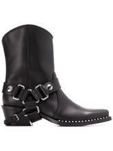 MIU MIU | ковбойские ботинки с ремешками | Clouty