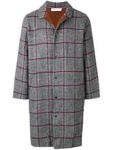 John Elliott | клетчатое пальто прямого кроя | Clouty