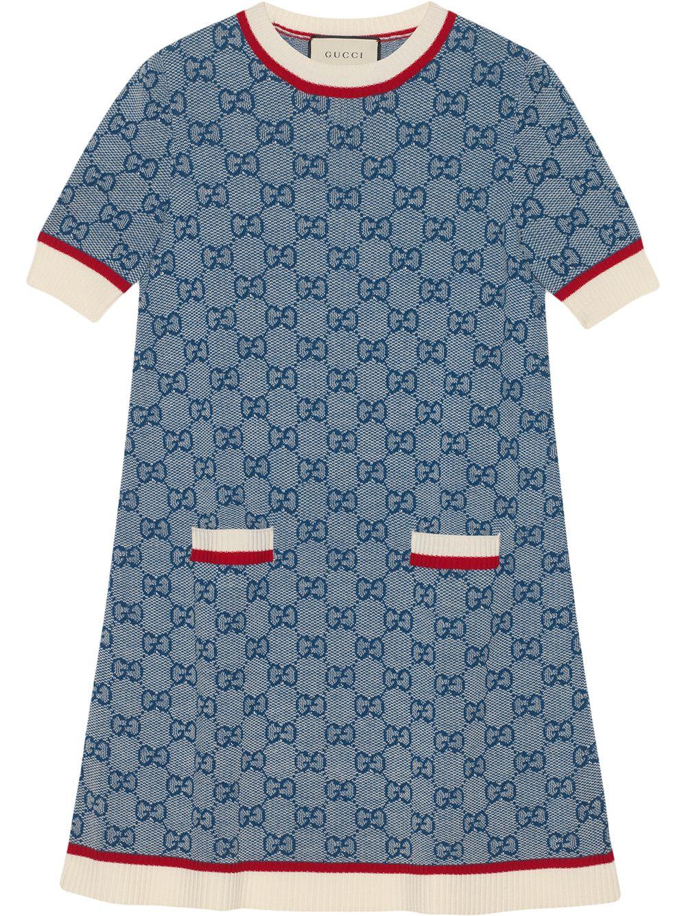 GUCCI | трикотажное платье с узором GG | Clouty