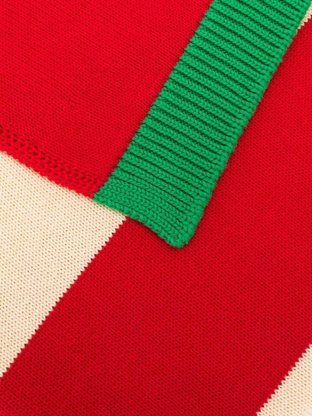 GUCCI | полосатый шарф с узором GG | Clouty