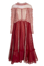 VALENTINO | Хлопковое платье с кружевом | Clouty