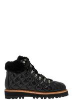 Lola Cruz | Кожаные ботинки с мехом | Clouty